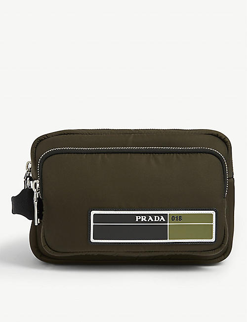 PRADA Military Logo washbag