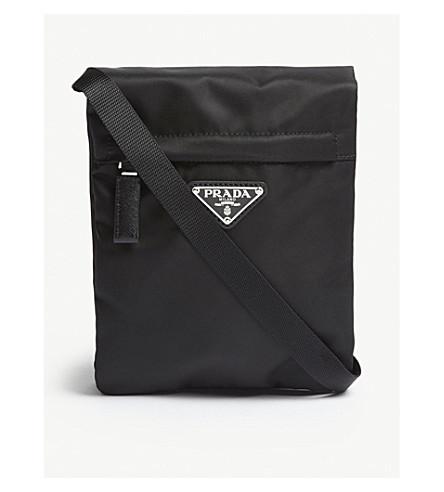 96fb4bdf4c8661 PRADA - Logo nylon cross-body pouch | Selfridges.com