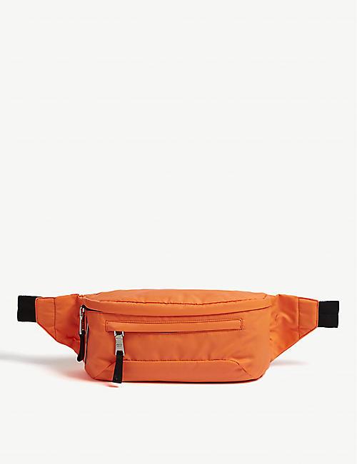 6eb129745f PRADA Fluorescent logo nylon belt bag