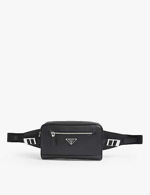 0e13fdde79a1cc PRADA Fluorescent logo nylon belt bag. £535.00. PRADA Leather beltbag