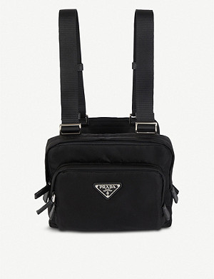 PRADA Logo-appliquéd nylon chest rig bag