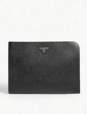 Saffiano Leather Portfolio by Prada