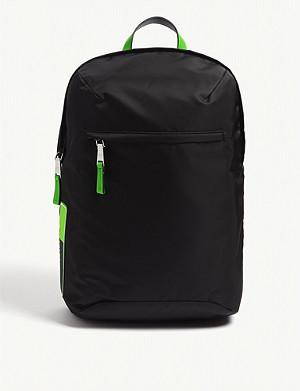 b0f34aef4ef4 PRADA · Fluorescent nylon backpack · PRADA Fluorescent logo nylon belt bag
