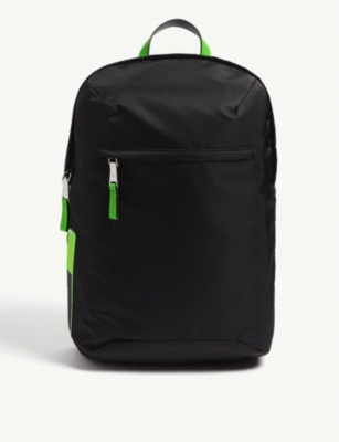 PRADA Fluorescent nylon backpack