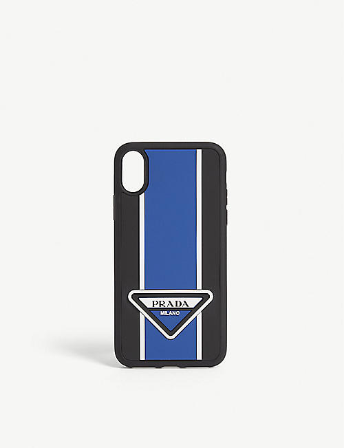 PRADA Logo stripe iPhone X cover
