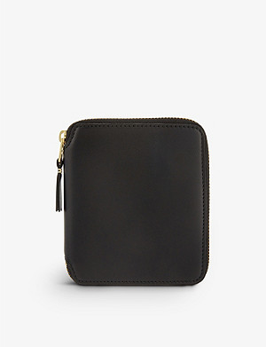 COMME DES GARCONS Zip-around leather wallet