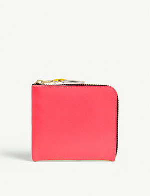 COMME DES GARCONS Fluorescent leather wallet