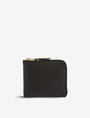 COMME DES GARCONS Leather half-zip wallet