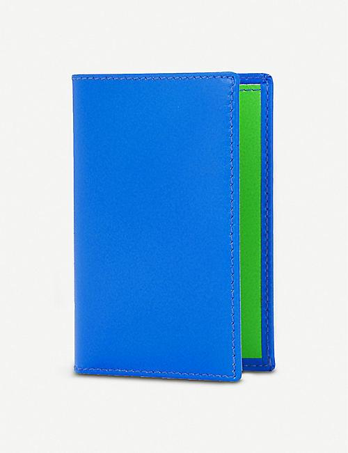 0ee30ac7629bb COMME DES GARCONS Super flourescent leather card holder
