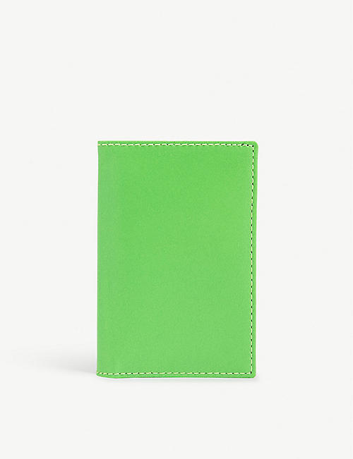 COMME DES GARCONS: Super flourescent leather card holder