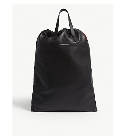 486dd1bbd06791 ALEXANDER MCQUEEN - Leather drawstring backpack | Selfridges.com