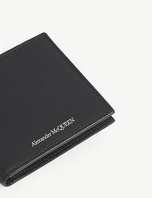 ALEXANDER MCQUEEN Logo grained leather billfold wallet