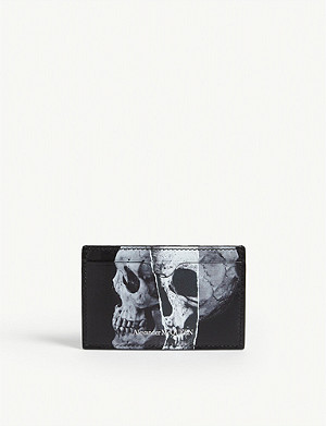 ALEXANDER MCQUEEN X-RAY skull print leather cardholder