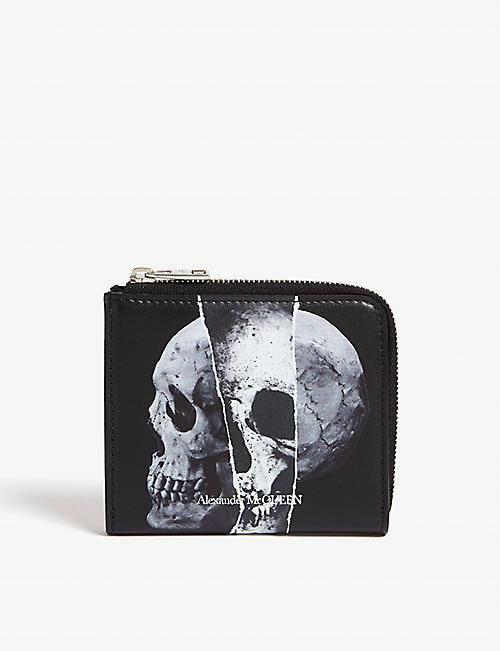 ALEXANDER MCQUEEN Skull graphic leather coin purse