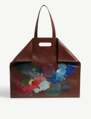 ALEXANDER MCQUEEN Painted leather shopper