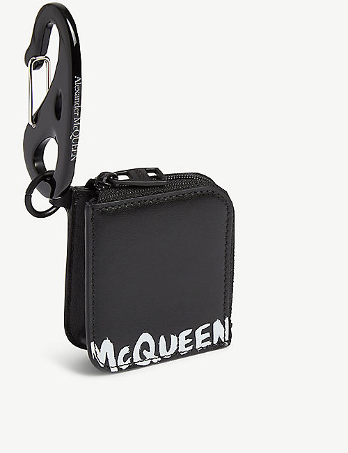 ALEXANDER MCQUEEN Mini leather keyring pouch