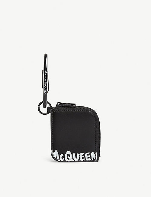 ALEXANDER MCQUEEN: Mini leather keyring pouch