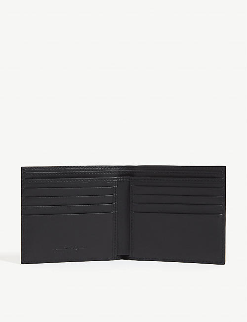 ALEXANDER MCQUEEN Graffiti logo leather billfold wallet