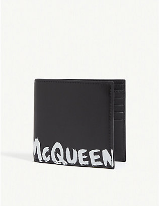 ALEXANDER MCQUEEN: Graffiti logo leather billfold wallet