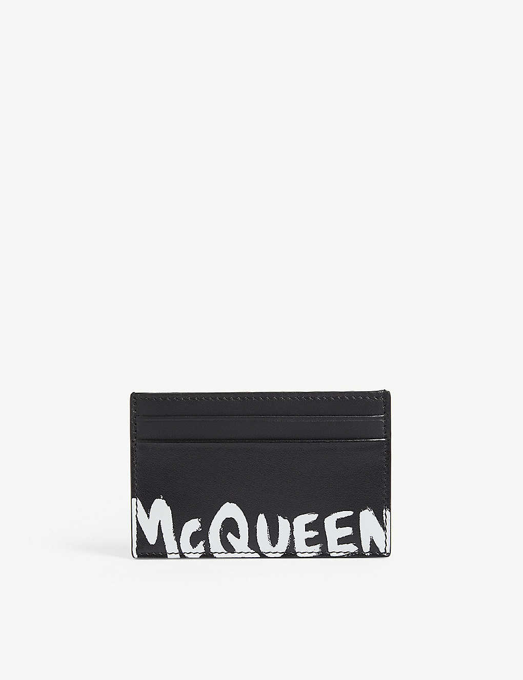 ALEXANDER MCQUEEN: Graffiti logo leather card holder