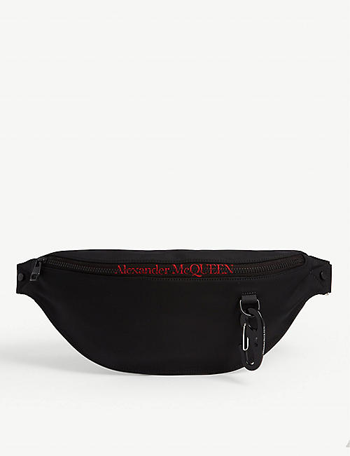 ALEXANDER MCQUEEN Canvas oversized belt bag