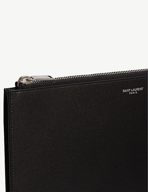 SAINT LAURENT Leather tablet holder