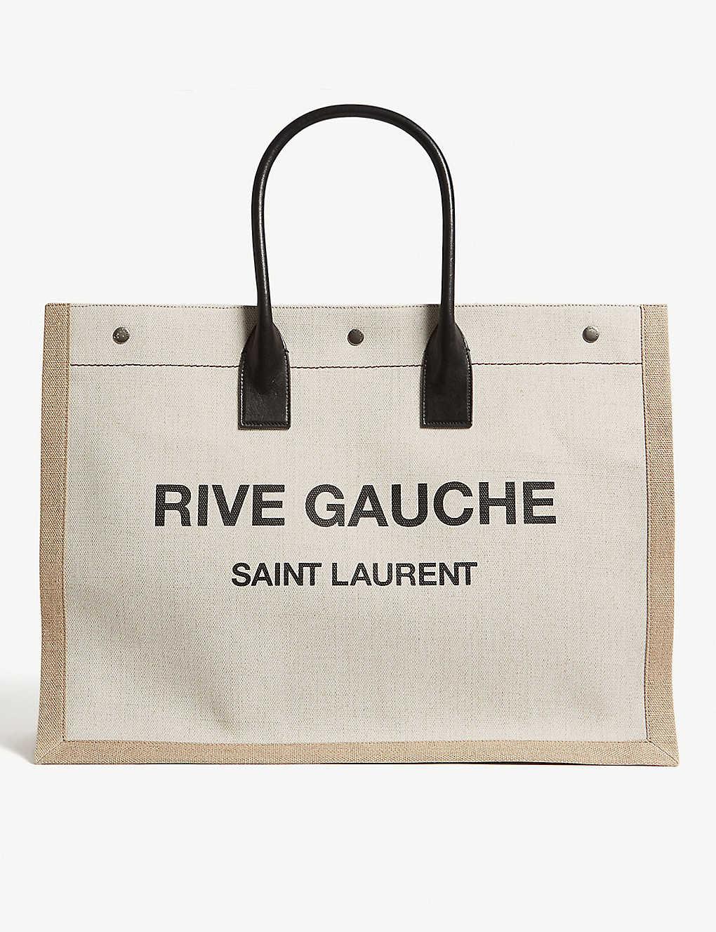 353fd0bb8 SAINT LAURENT - Rive Gauche canvas tote bag | Selfridges.com