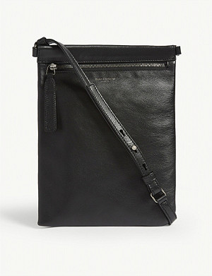 SAINT LAURENT Leather flat crossbody bag