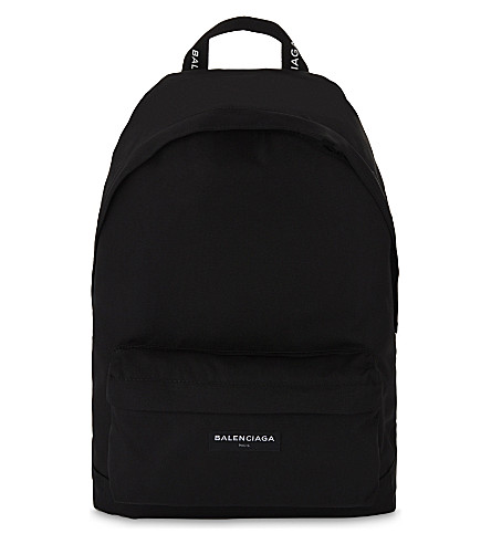 07fb25fc18e9 ... BALENCIAGA Explorer logo canvas backpack (Black. PreviousNext