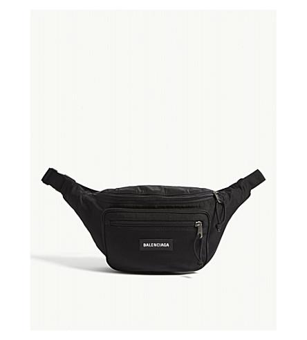 22ce0784c010 BALENCIAGA Explorer logo belt bag (Black