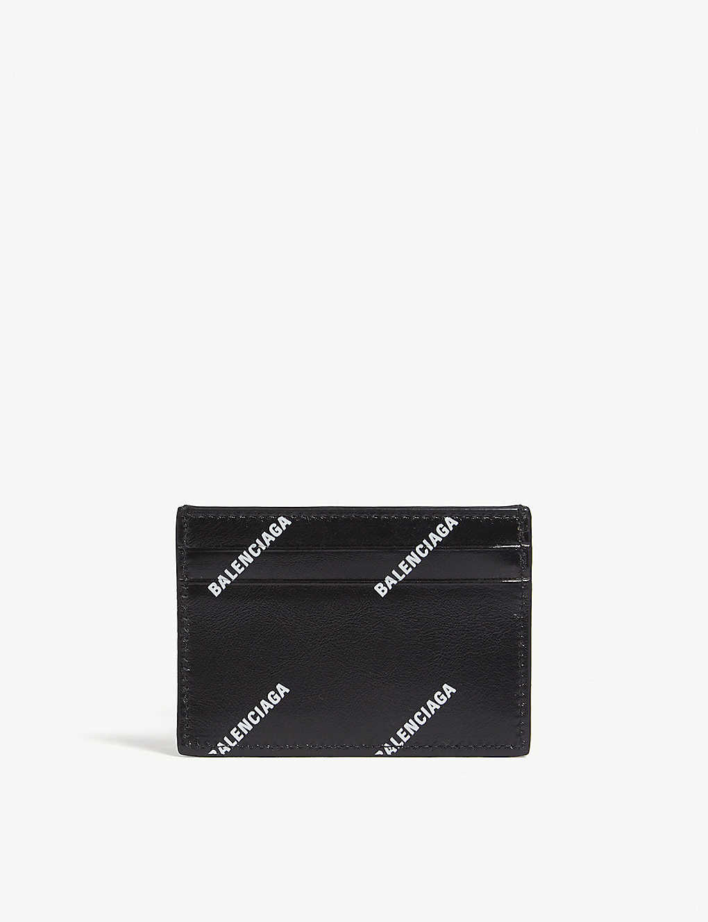 1aa31bc3310 BALENCIAGA - Logo leather card holder | Selfridges.com