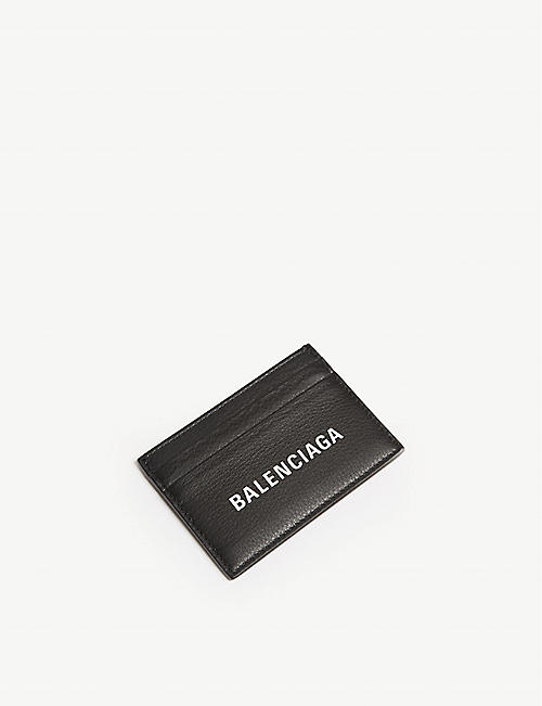 BALENCIAGA Baltimore grained leather card holder