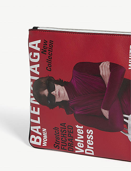 BALENCIAGA Winter 2018 campaign leather pouch