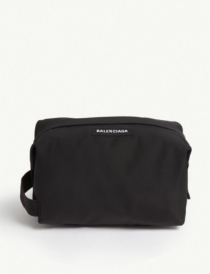 BALENCIAGA Logo canvas wash bag