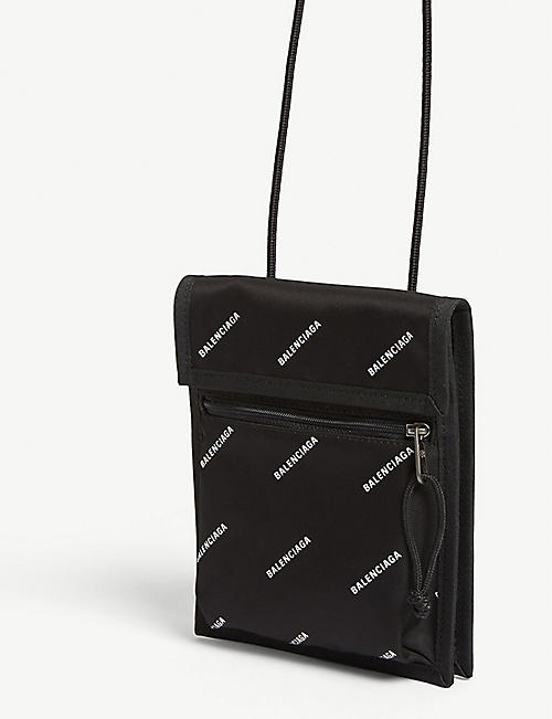 BALENCIAGA Explorer logo-print nylon cross-body bag