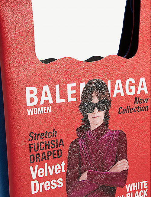 BALENCIAGA Winter 2018 campaign leather shopper