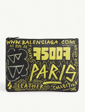 BALENCIAGA Graffiti pouch bag