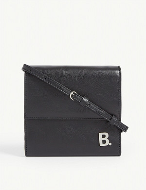 BALENCIAGA Leather wallet-on-strap