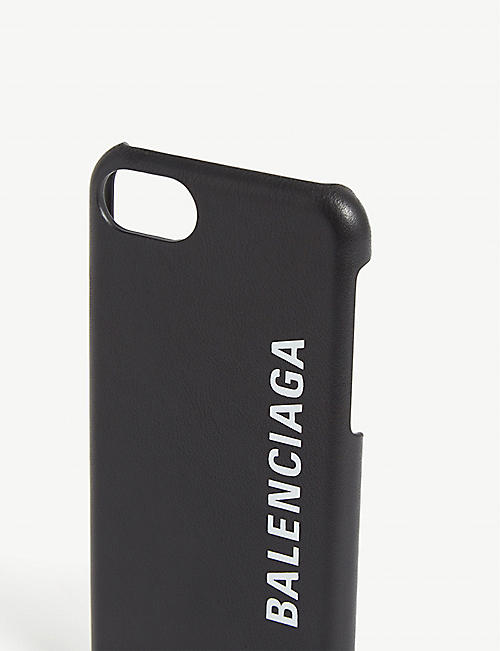 BALENCIAGA Logo leather Iphone case
