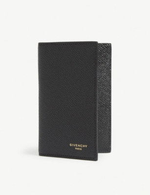GIVENCHY Pebbled leather folding card case
