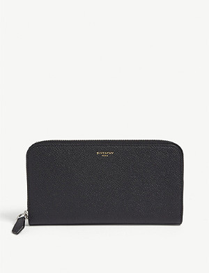 GIVENCHY Grained leather zip-around wallet