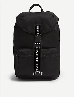 GIVENCHY: Logo tape nylon backpack