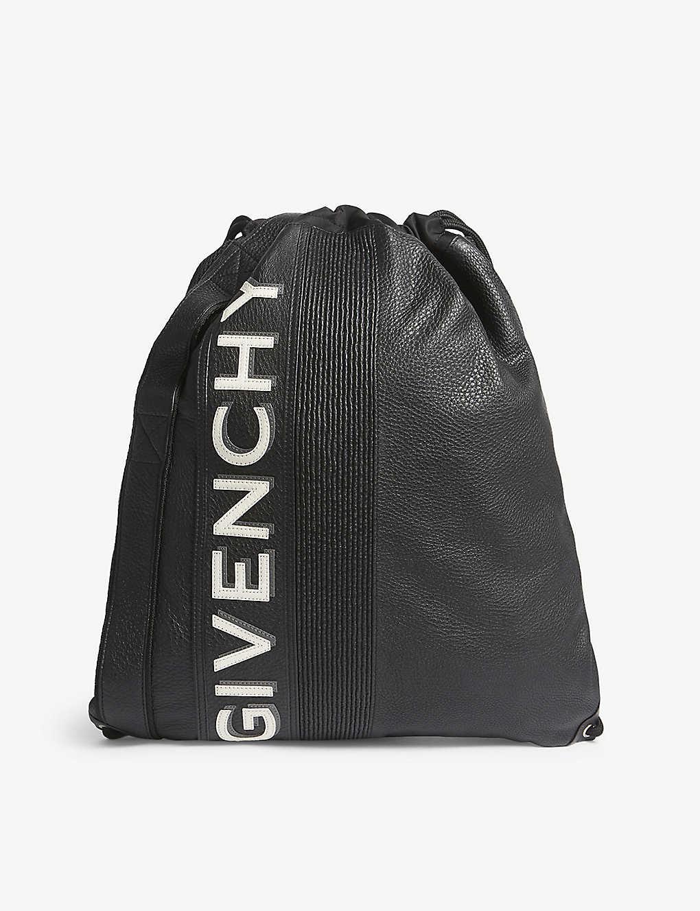 9dc2c16527ab93 GIVENCHY - MC3 leather drawstring bag | Selfridges.com
