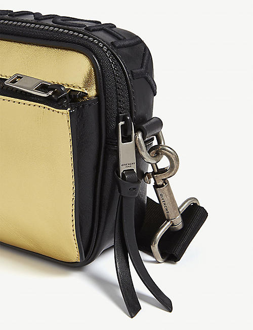 GIVENCHY MC3 metallic leather cross-body bag
