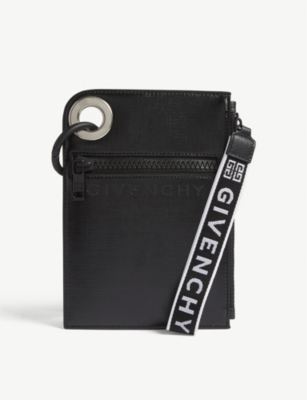 GIVENCHY Logo-print leather pouch