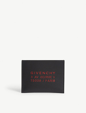 GIVENCHY Atelier logo leather card holder