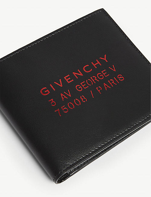 GIVENCHY Logo embossed leather wallet