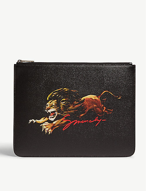 GIVENCHY Leo print pouch