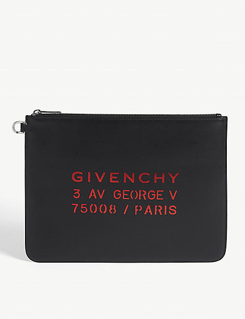 GIVENCHY Atelier logo leather pouch