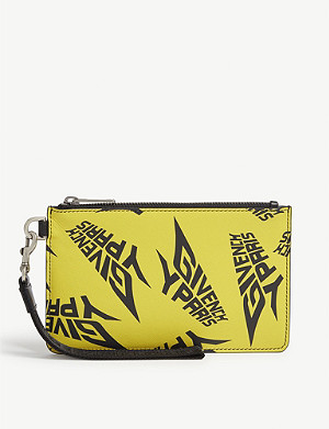GIVENCHY Extreme print leather pouch